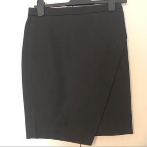 BANANA REPUBLIC ASYMMETRICAL PENCIL SKIRT BLACK